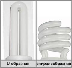 Энергосберегающие лампы: U-образные, спиралеобразные